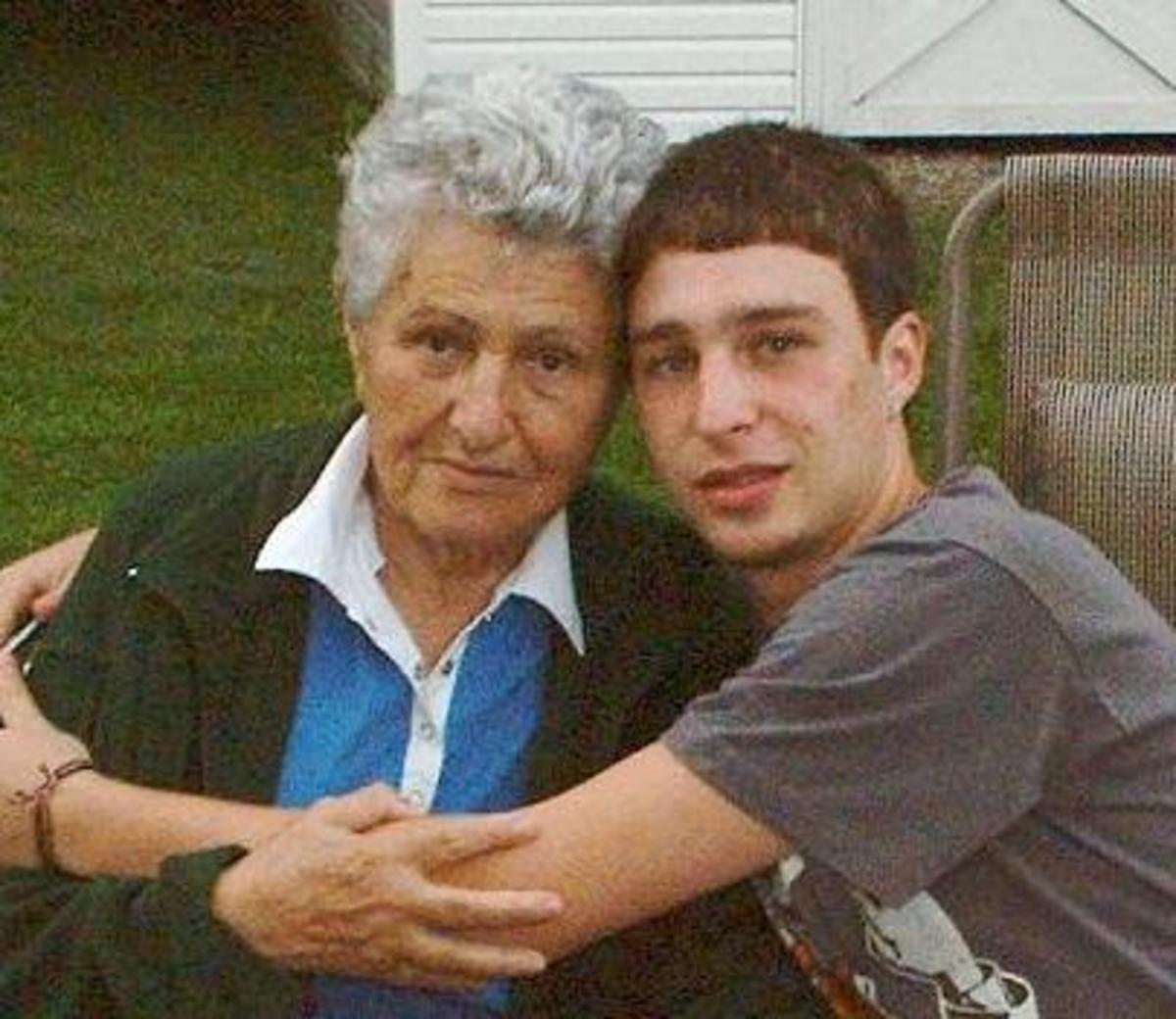Reuven and Grandma Maya. August 2008