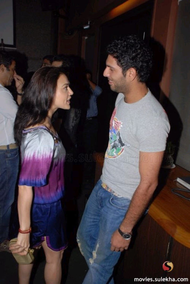 Priety and Yuvraj talking