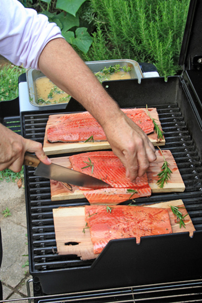 Grill Wild Salmon on Cedar Plank (Photo courtesy by woodleywonderworks from Flickr.com)