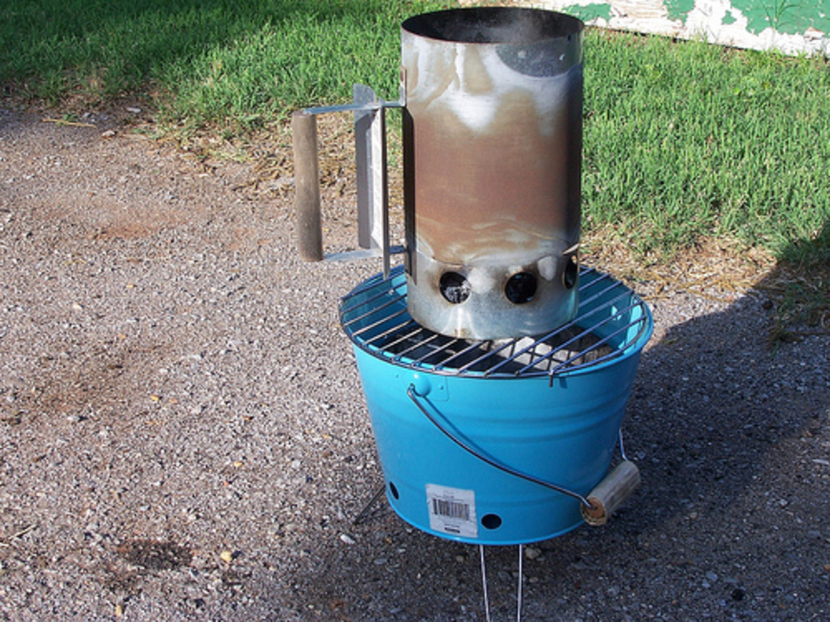 Outdoor Mini Grill with Chimney Charcoal Starters (Photo courtesy by programwitch from Flickr)