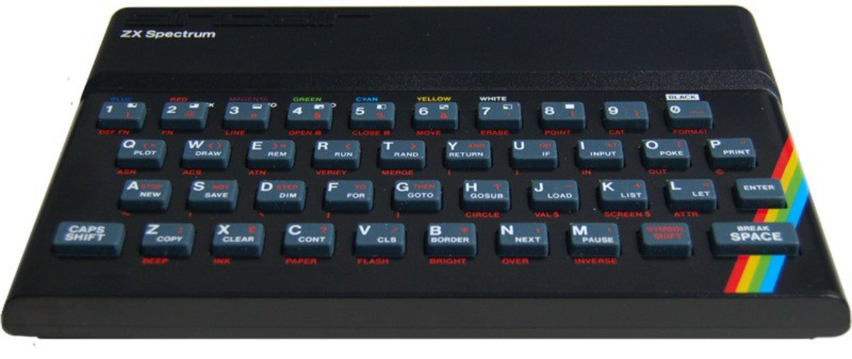 The unmistakable rubber keys of the Sinclair Spectrum
