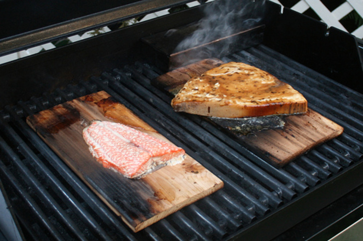 Grill Any Fish Steaks on Cedar Planks (Photo courtesy by woodleywonderworks from Flickr.com)