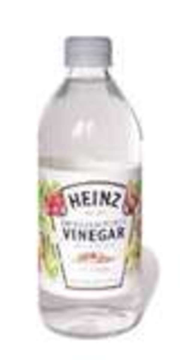 Either white or cider vinegar will work, but clearer color happens with the white vinegar.