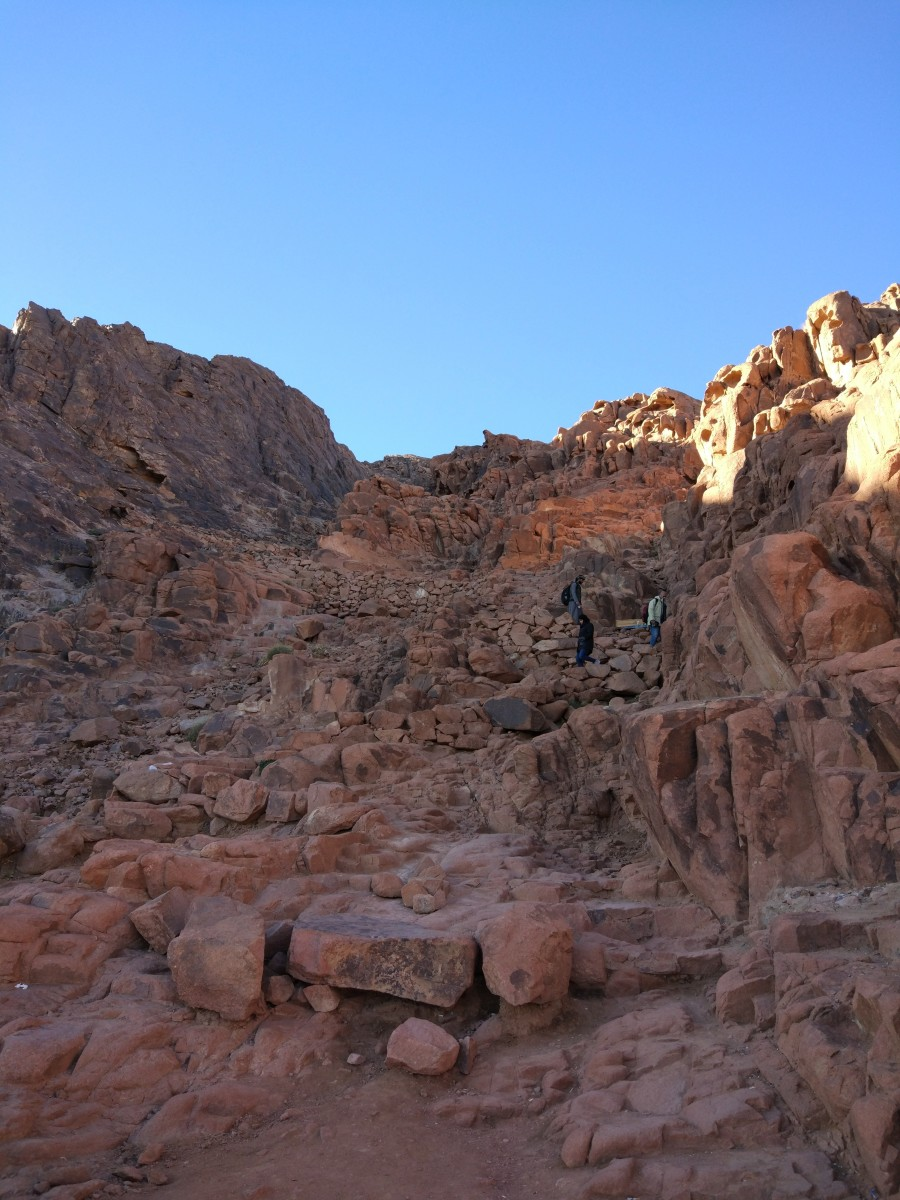Stone steps on Mount Sinai Egypt