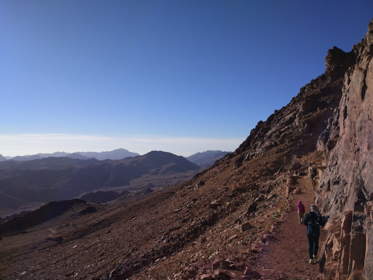 Gentle walking trail on Mount Sinai Egypt