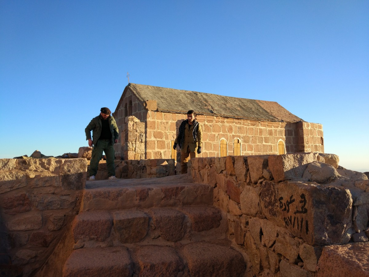 A small church at the summit of Mount Sinai Egypt