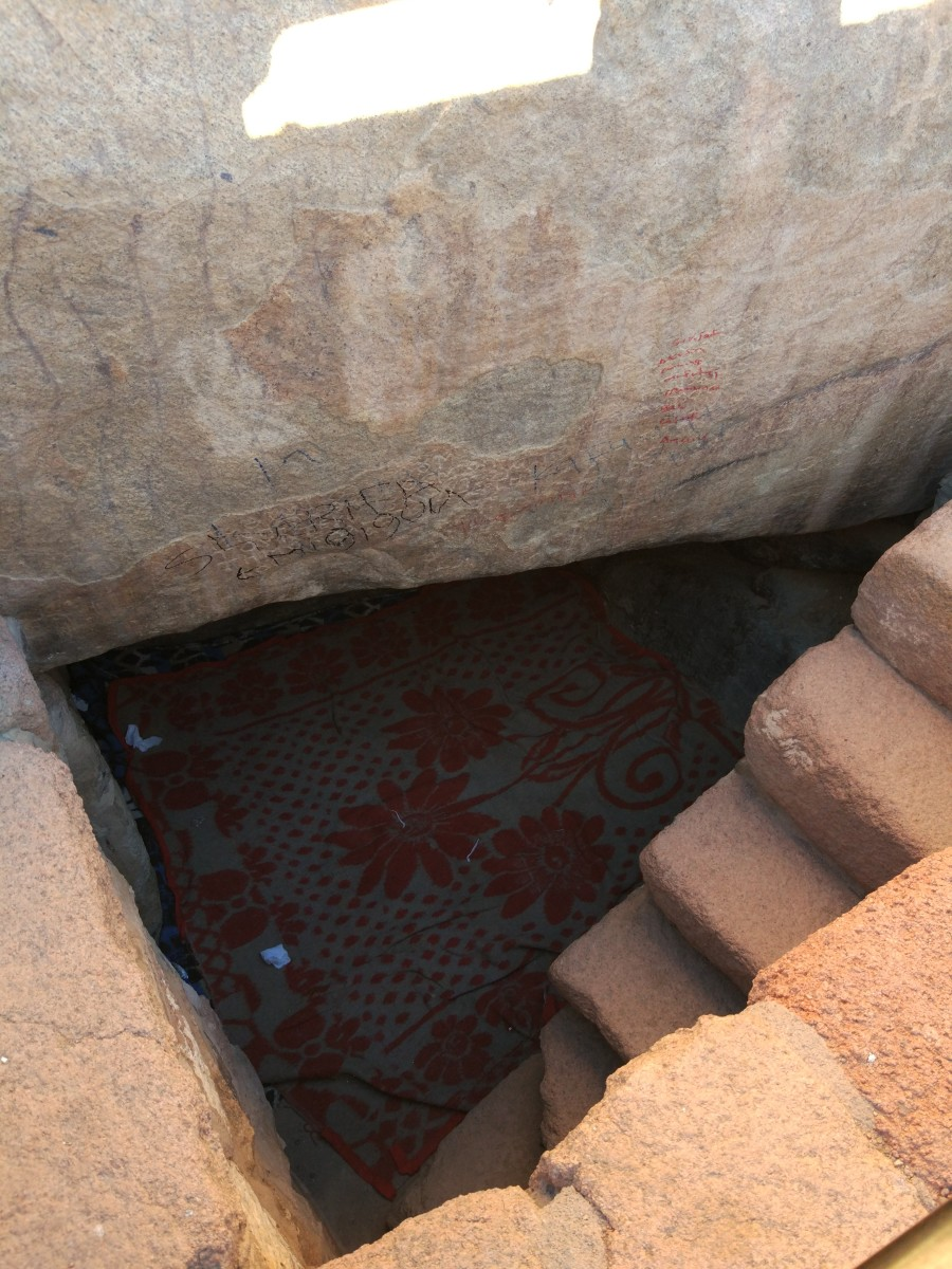 The spot where Moses supposedly rested when he was at the top of Mount Sinai for 40 days.