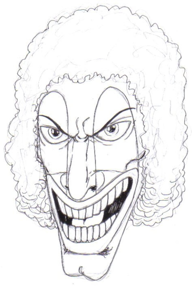 This clown will rob a bank, see the look on his face and his afro wig!!Copyright  2010 Wayne Tully