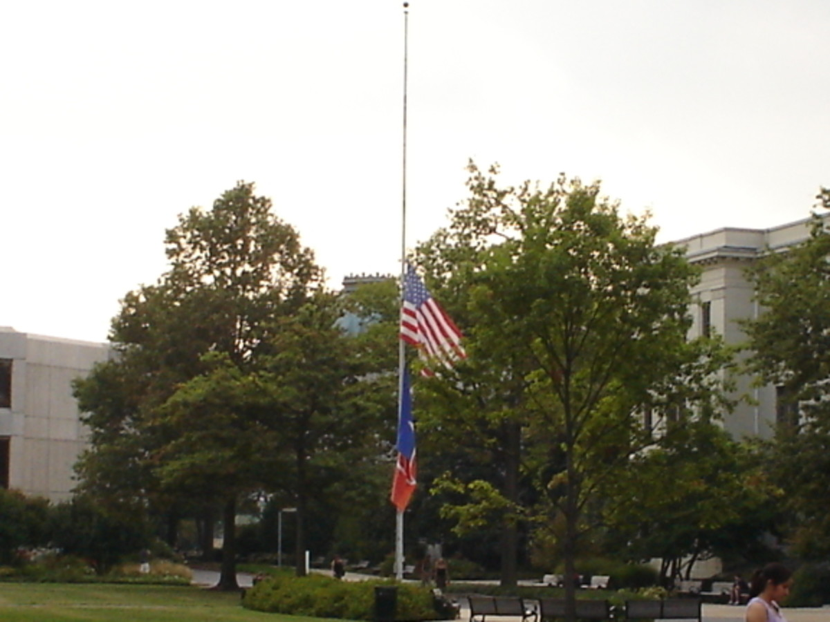 Always raise the flag to the top before lowering it to half-mast.