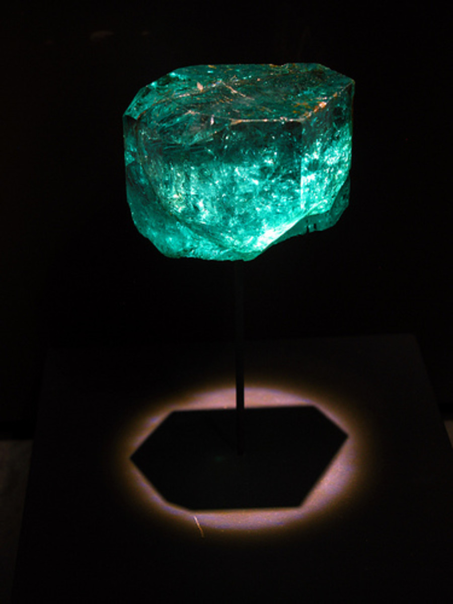 The Gachala Emerald which weighs 858 carats and is one of the largest gems in the world.