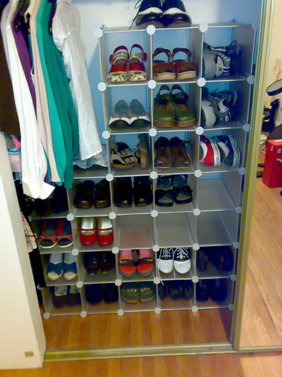 Kids Closet Shoe Organizer Racks and Storage