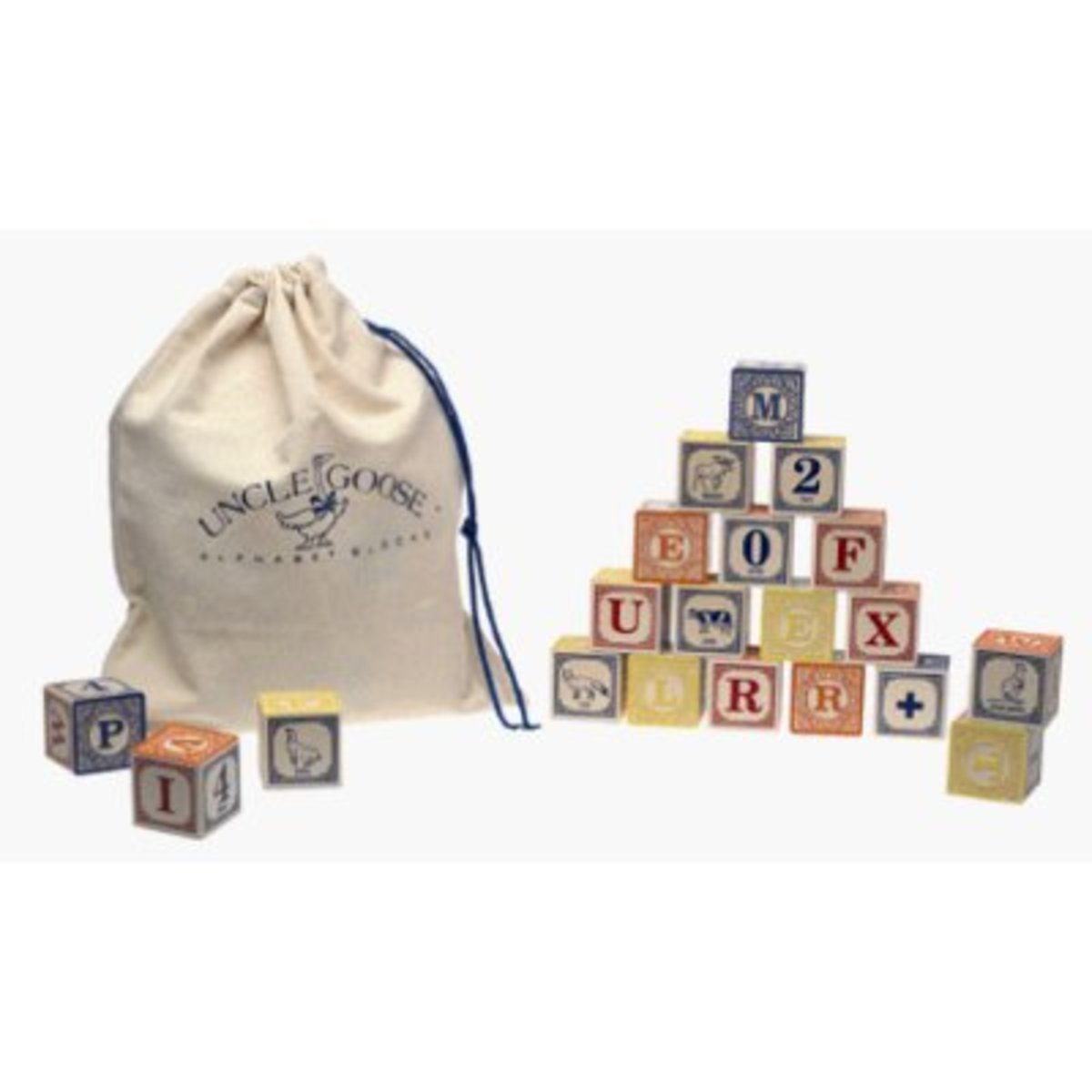 Alphabet blocks are a popular time-tested choice for older toddlers. Check for paint toxicity.