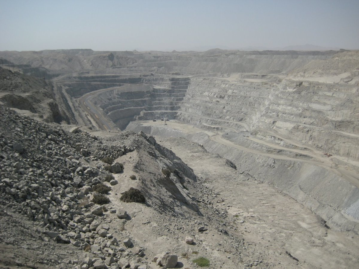 Uranium mine in Namibia.