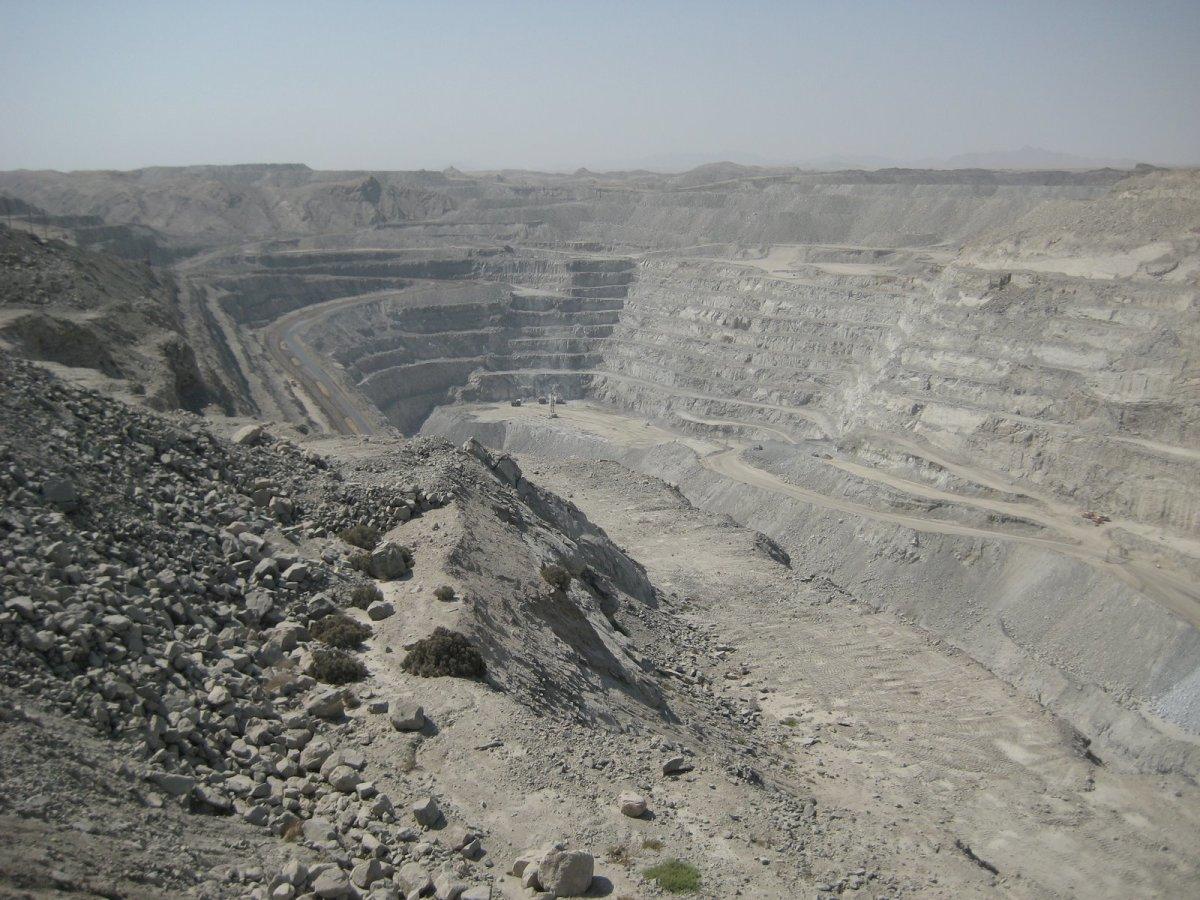 Uranium mine in Namibia.