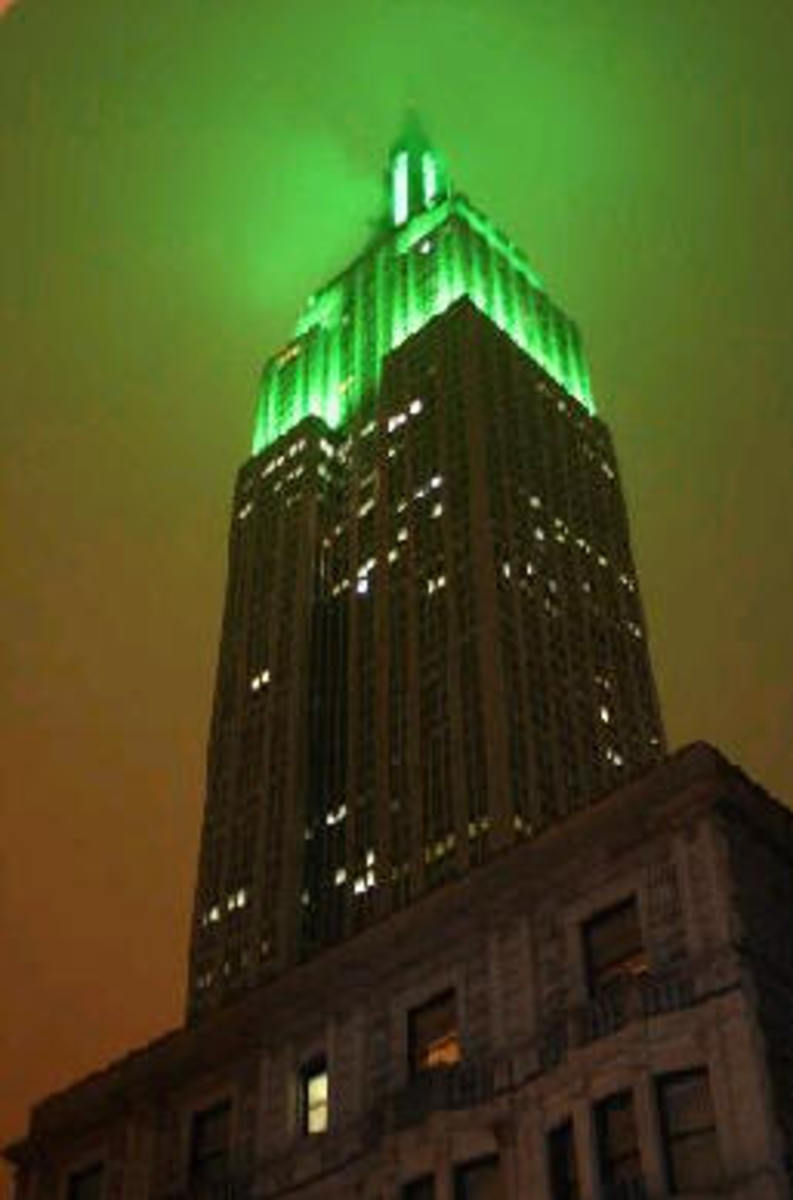 View from the rooftop, on a ESB dress up night. Awesome, isn't it.
