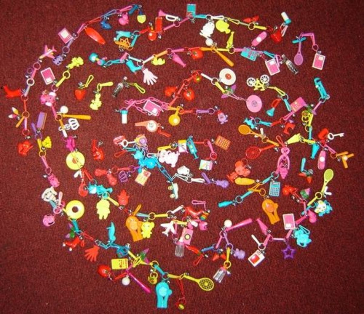 80s Plastic Charm Necklace    -    You know you love it!