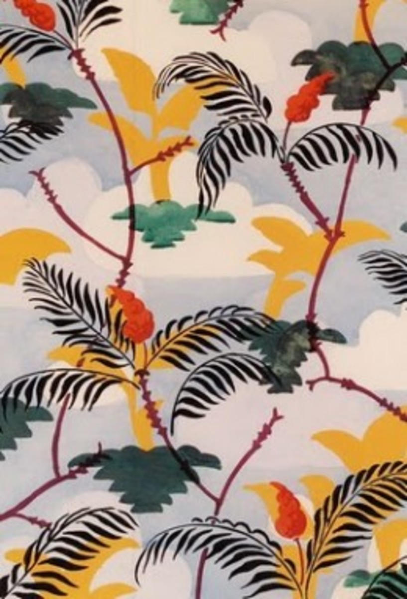 """September"" Wallpaper Design by Charles Burchfield 1925"