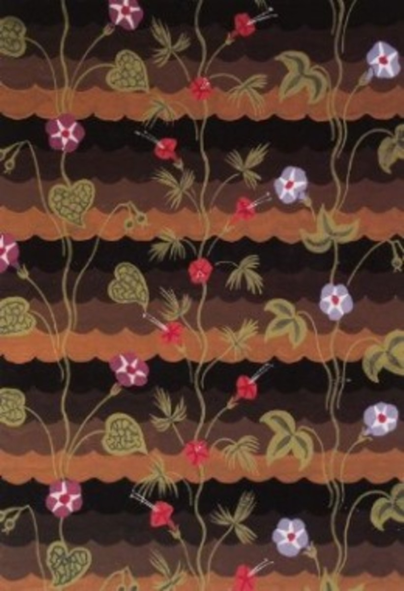 """Morning Glories"" Wallpaper Design by Charles Burchfield 1925"
