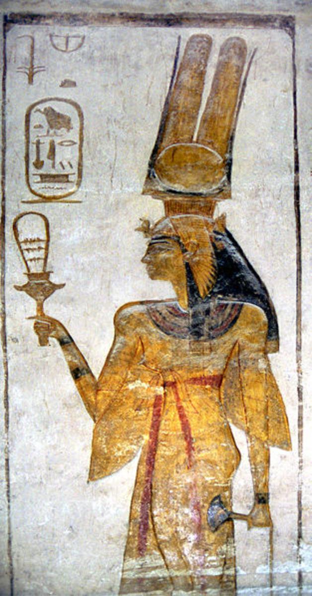 Nefertari with sistrum