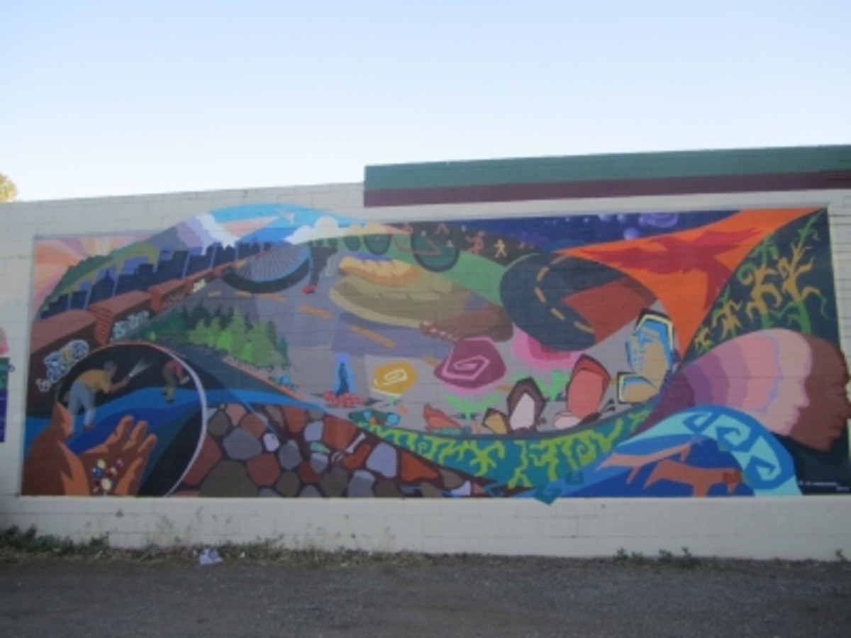 A mural on Phoenix Ave. in the Southside area of Flagstaff
