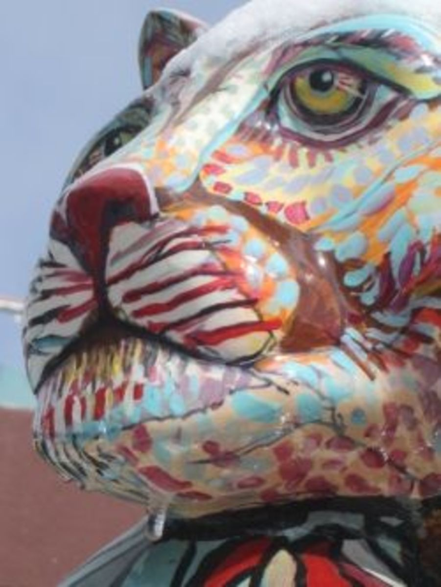A public sculpture in downtown Flagstaff