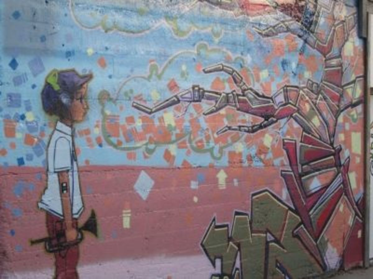 Another downtown mural I found in October, 2010