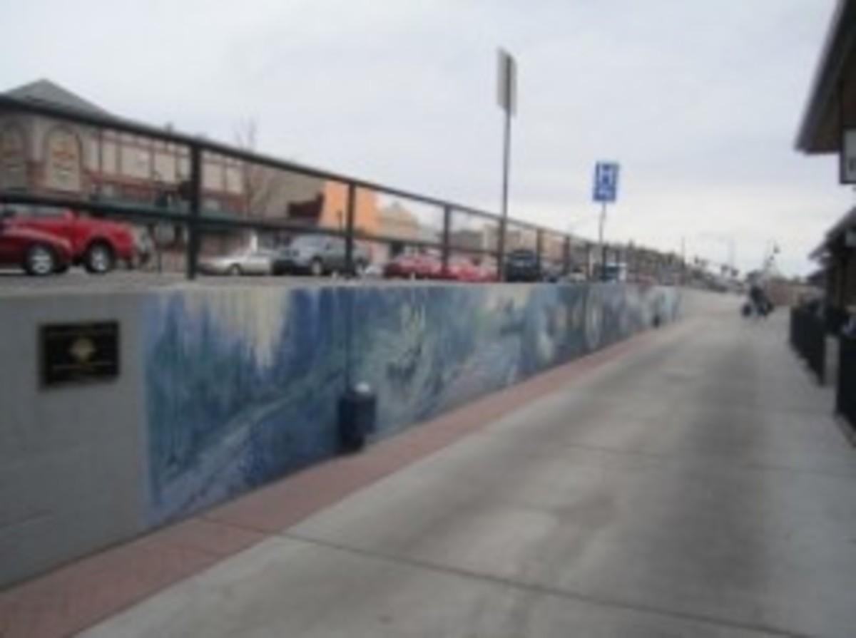 Centennial Mural at the Flagstaff Visitor Center