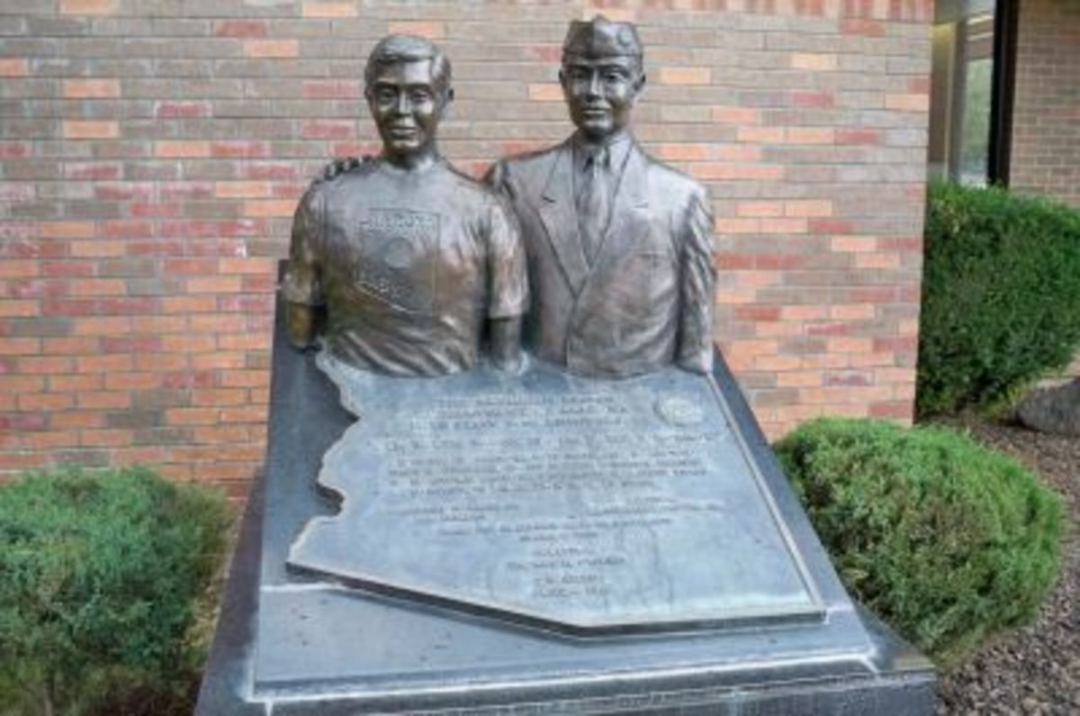 The American Legion & Department of Arizona's Boys State 50th Anniversary sculpture by Thomas H. Oliver, dedicated June 6, 1996