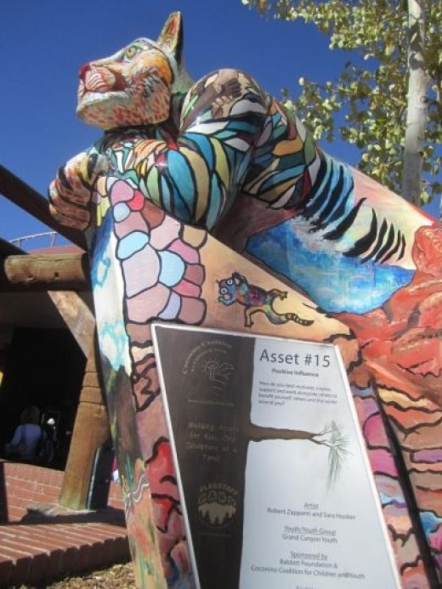 One of many PAWS sculptures around town from the Coconino Coalition for Children & Youth