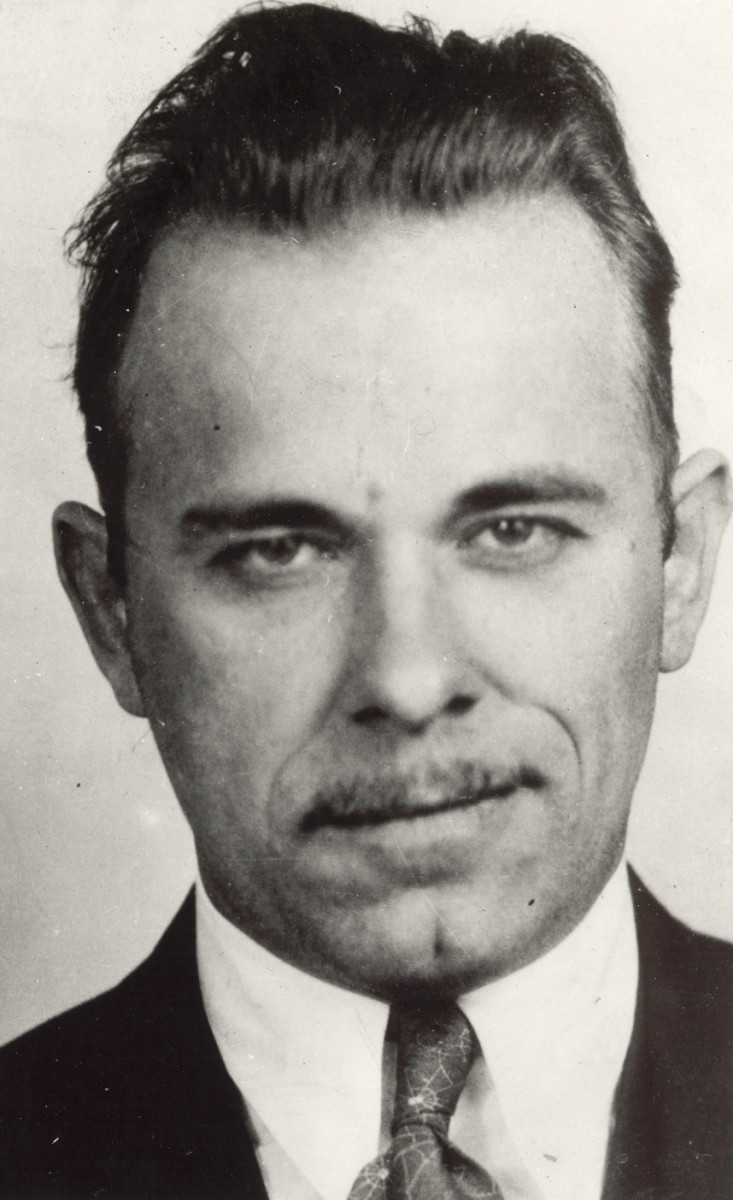 FBI mug shot of bank robber John Dillinger