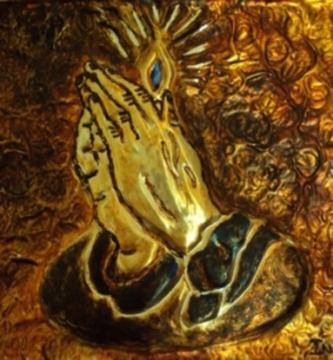 Praying Hands Metal Art by Injete Chesoni