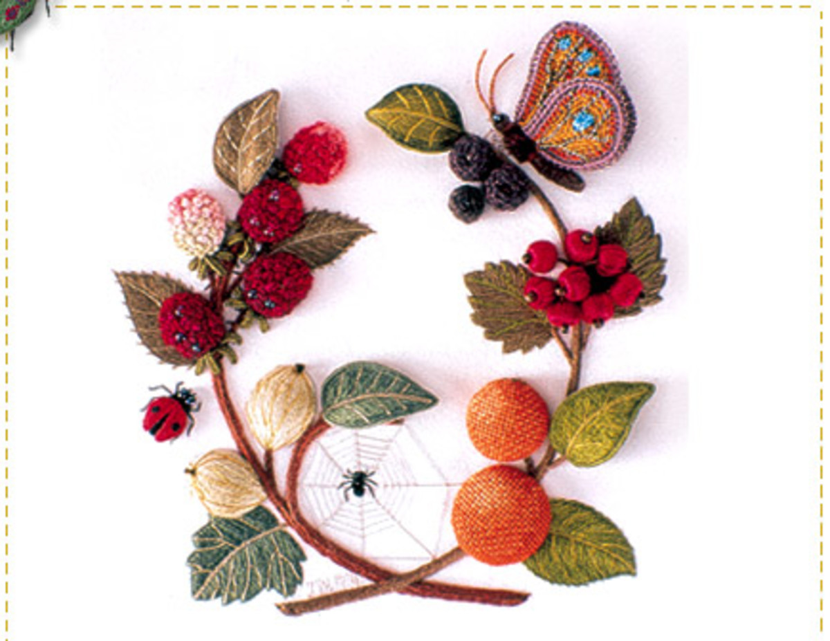 Ribbon embroidery stitches patterns