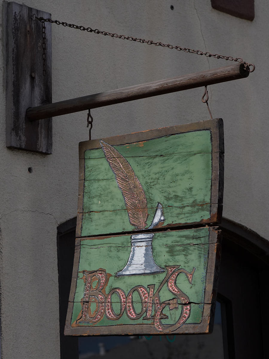 Business owners of the middle ages hung signs with images outside their shops for those who could not read