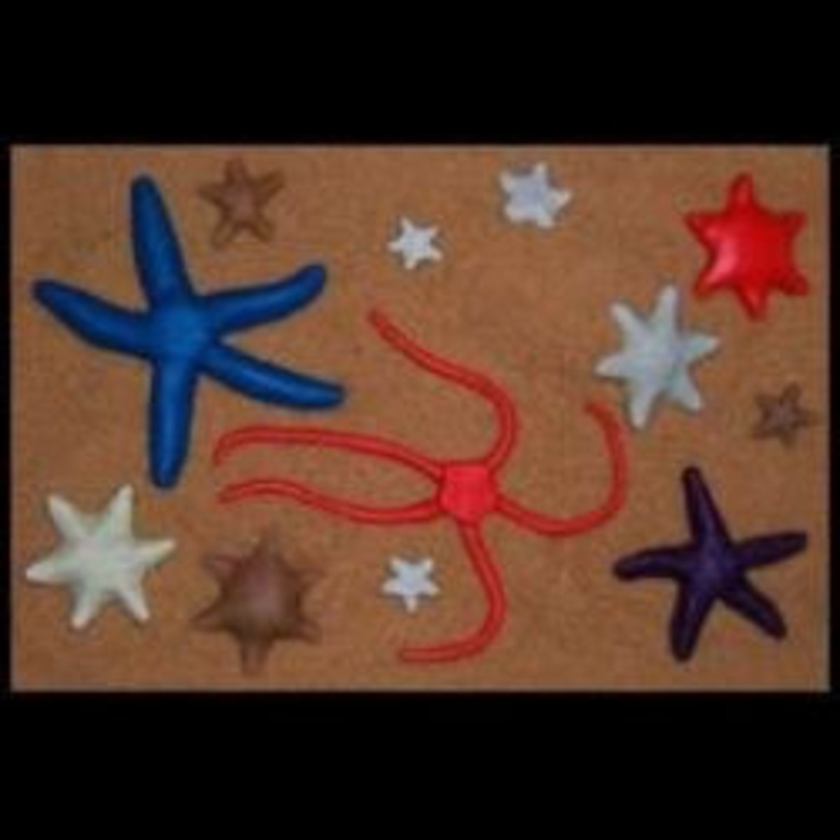 Learn to make this assortment of sea stars and starfish from fondant or gumpaste.