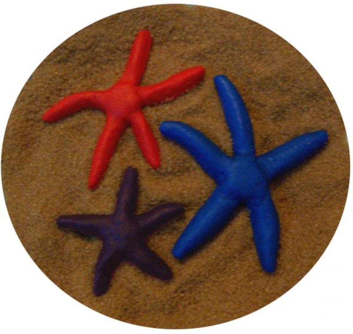 Fondant Linckia starfish