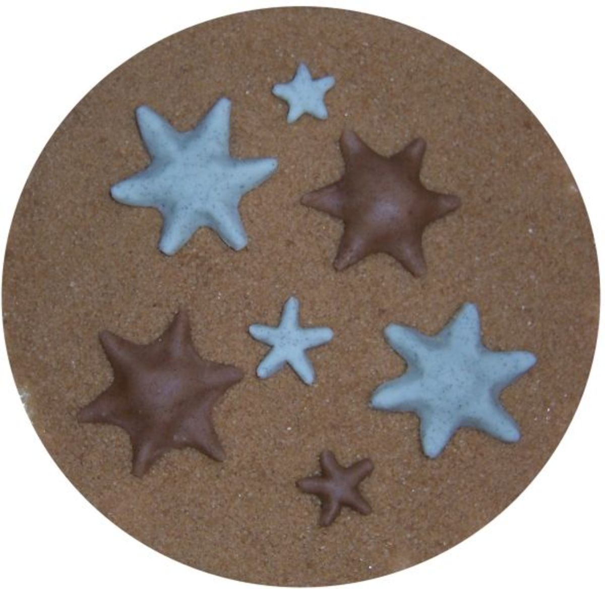 Asterina starfish made of fondant