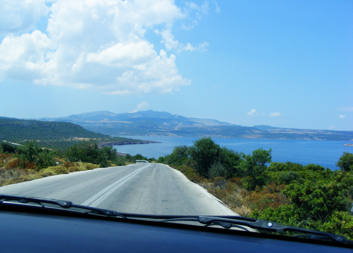 On the road to Molyvos