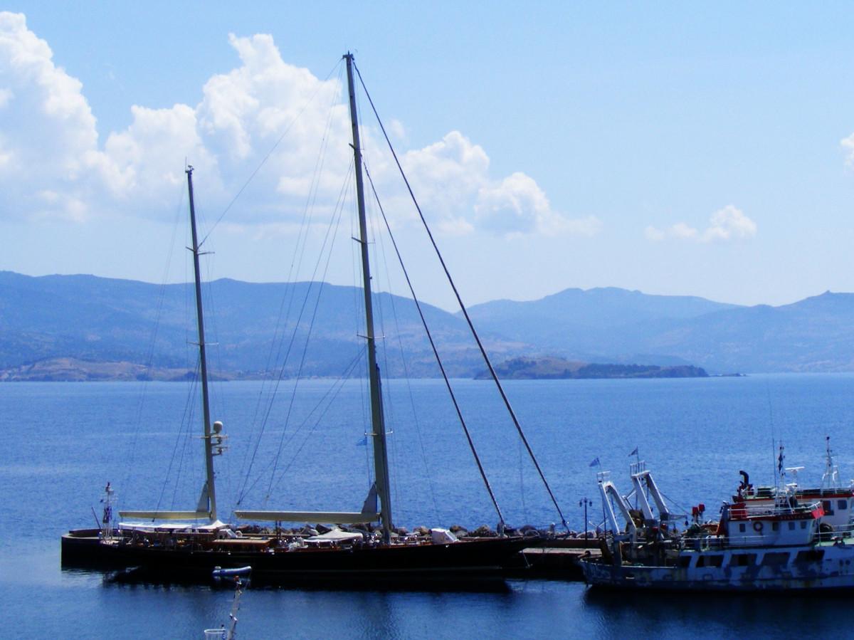 Molyvos harbor.