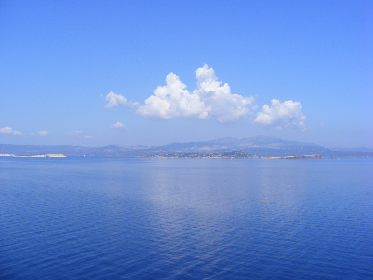 The unreal blue of the Mediterranean
