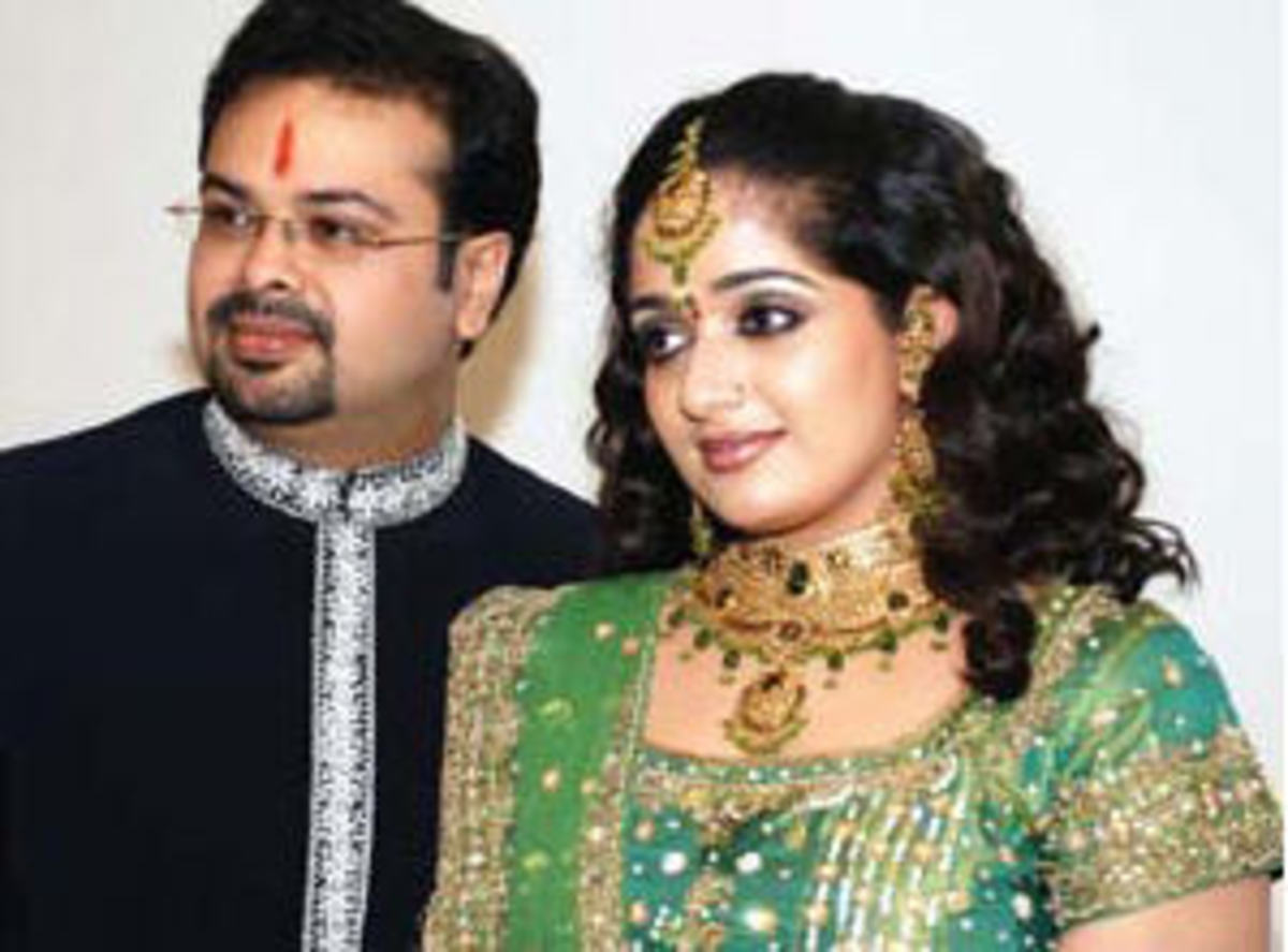 with husband nischal chandran