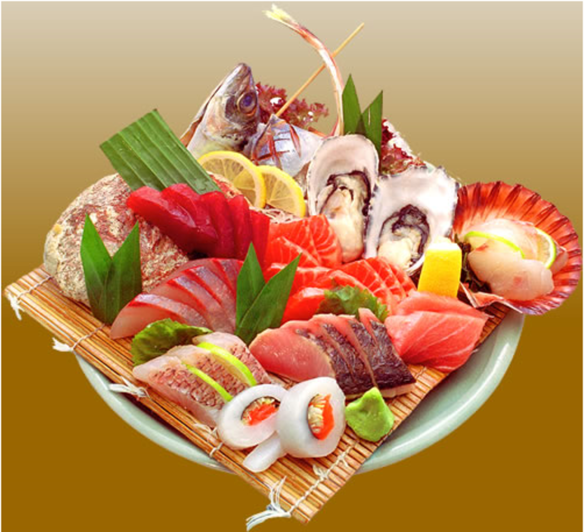 A Plateful of Sashimi