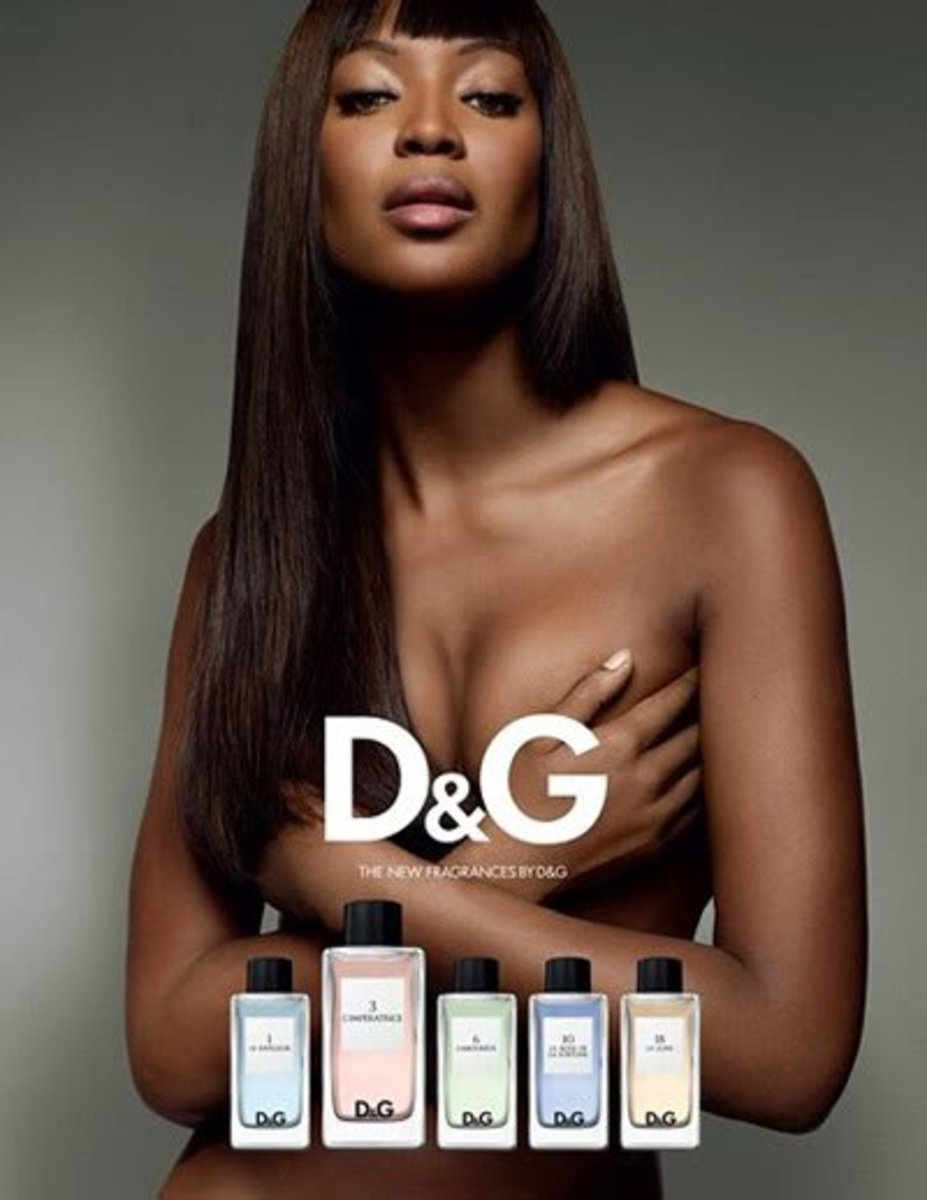 Naomi Campbell models for D&G Frangrance Anthology