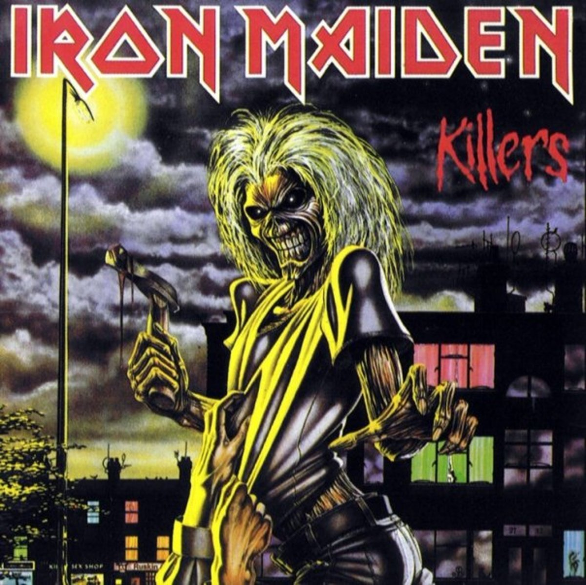 """Eddie"" first appears on Iron Maiden's ""Killers"" album after a transformation (see last slide)"