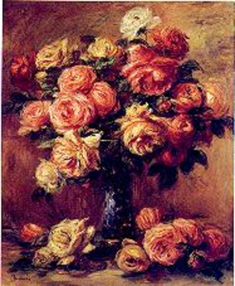 Renoir's painting of Roses