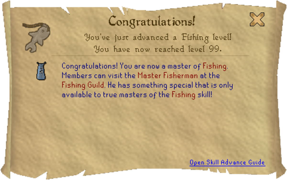Runescape 99 Fishing Guide