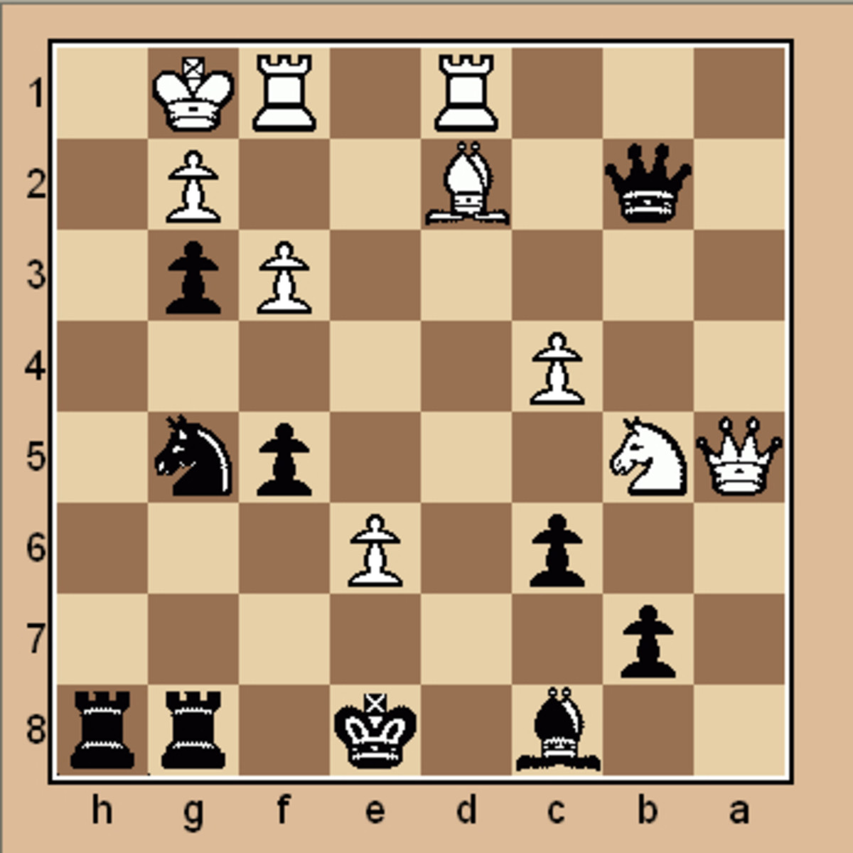 Mate in 3 chess puzzle (Click to enlarge)