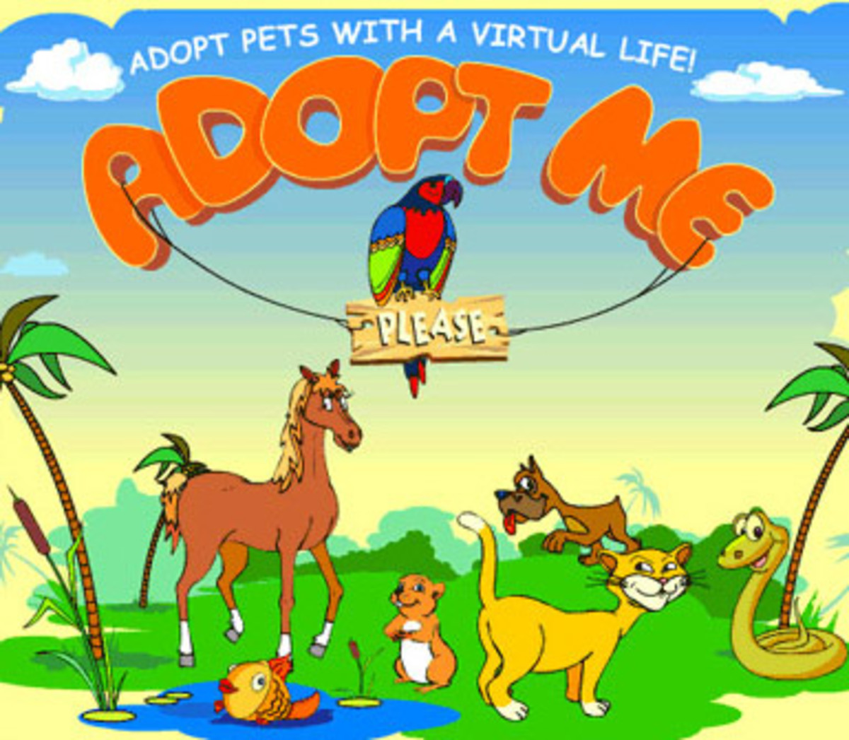 Some of the virtual pets at adoptme