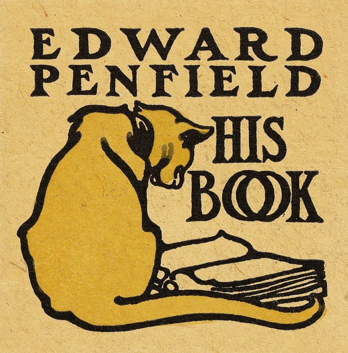 Bookplate of the American illustrator Edward Penfield (1866-1925)