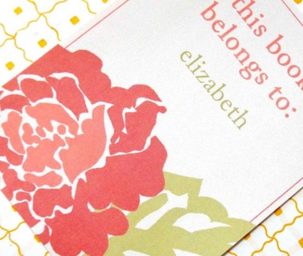 Nelladesigns bookplate from Etsy