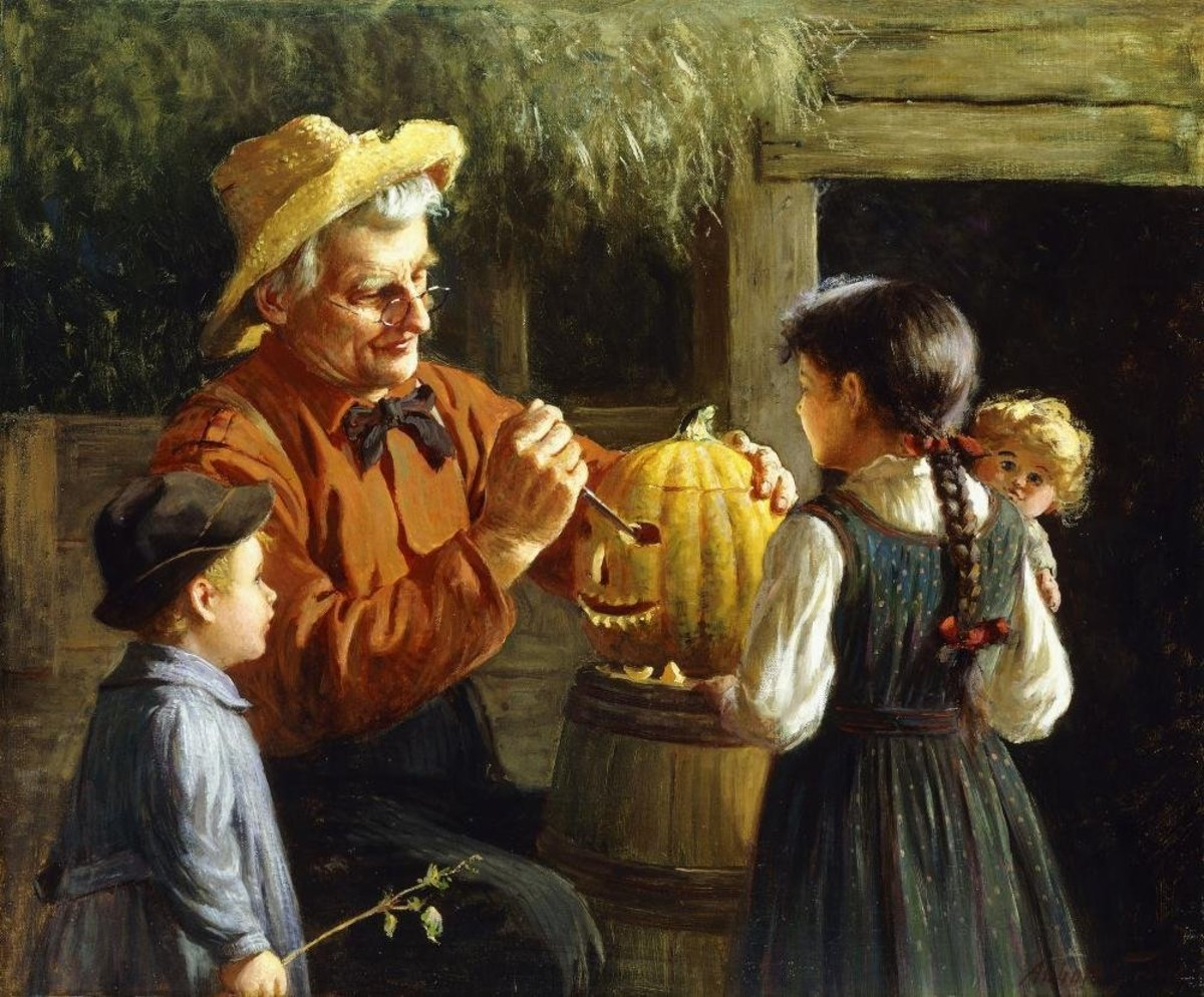 Jack-o-lantern by Abbott Fuller Graves - Peel and Stick Removable Graphic on Amazon